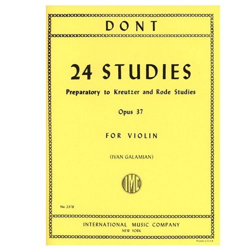 24 Studies for Violin, Opus 37 - Jakob Dont