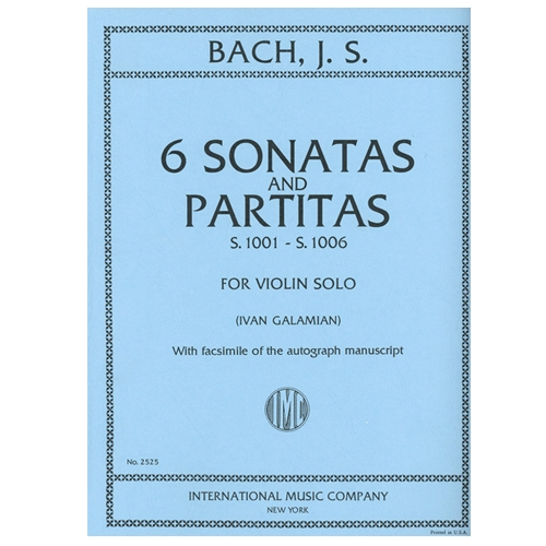 6 Sonatas and Partitas for Violin Solo - J. S. Bach / Galamian