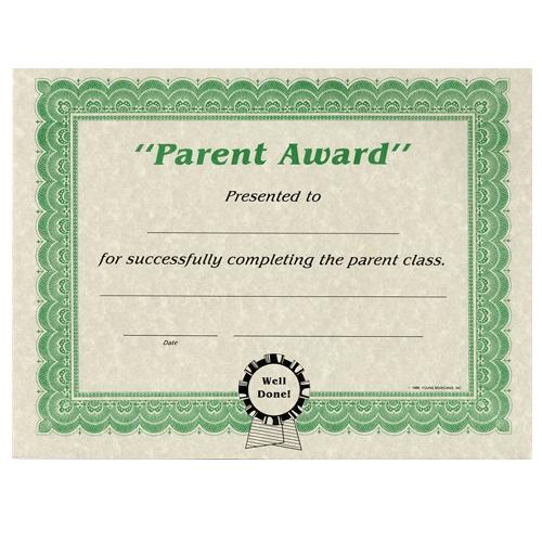 Parent Award Certificates