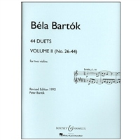 Bela Bartok - 44 Duets for Two Violins, Volume 2 (No. 26-44)