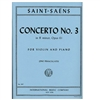 Concerto No. 3 in B minor, Opus 61 - Camille Saint-Saens
