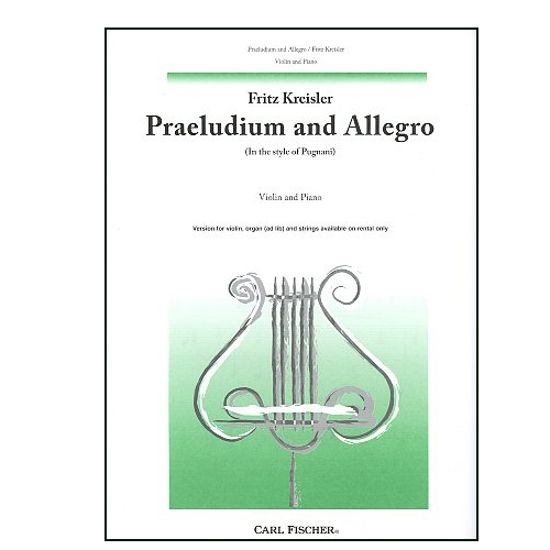 Praeludium and Allegro for Violin and Piano - Kreisler