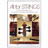 All for Strings Theory Workbook 1 for Violin