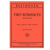 Two Romances, Opus 40 & 50 for Violin and Piano - Beethoven