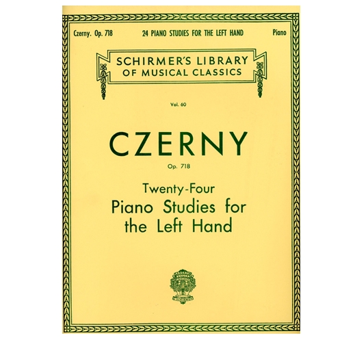 24 Piano Studies for the Left Hand,  Op. 718 - by Carl Czerny