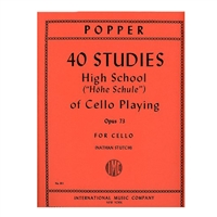 "40 Studies ""High School of Cello Playing"", Opus 73 - David Popper"