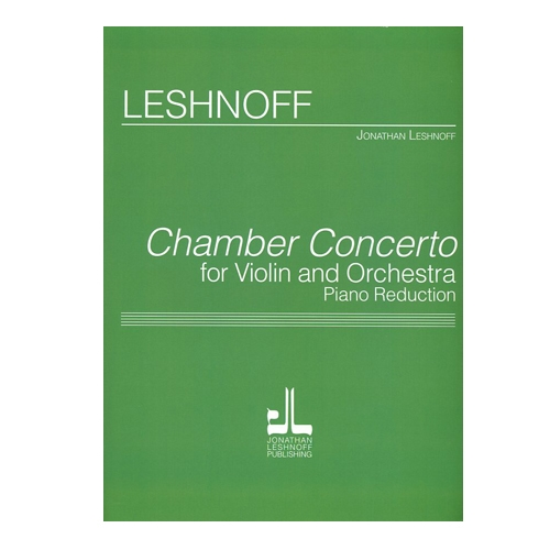 Chamber Concerto for Violin and Orchestra Piano Reduction
