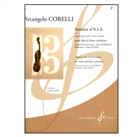 Corelli Sonates No 4 and 6 for viola and Bass