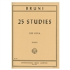 25 Studies for Viola - Bruni