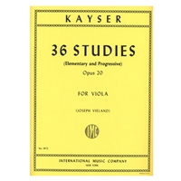 36 Studies (Elementary and Progressive) for Viola, Opus 20 - Kayser