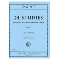 24 Studies for Viola, Opus 37 - Jacob Dont