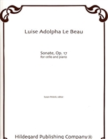 Sonate Op. 17 For viola and Piano by Luise Adolpha Le Beau