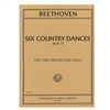Six Country Dances for Two Violins & Cello - Ludwig van Beethoven