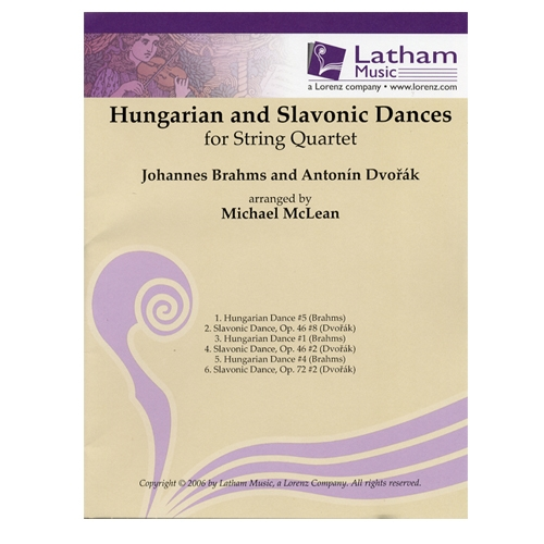 Hungarian and Slavonic Dances for String Quartet, Brahms and Dvorak - Parts