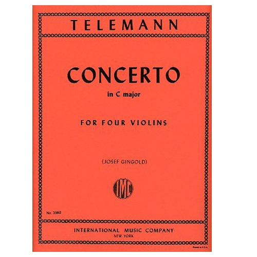 Concerto in C major for Four Violins - Teleman / Gingold
