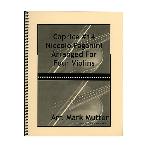 Caprice #14 Arranged for Four Violins - Niccolo Paganini