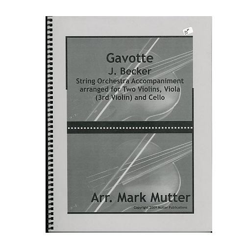 Gavotte - J Becker / Mutter
