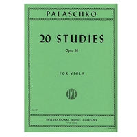 Palaschoko 20 Studies Opus 36 for Viola