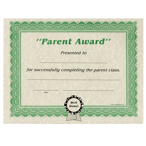 Parent Award Certificates