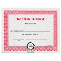 Recital Award Certificates