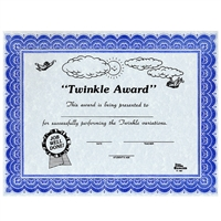 Young Musicians- Twinkle Award Certificates