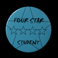 Four Star Student Button