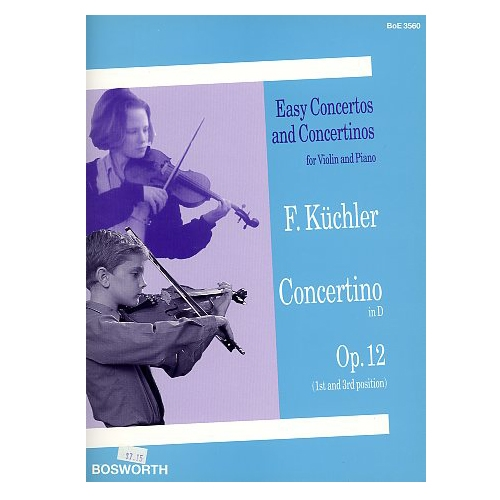 Easy Concertos and Concertinos for Violin and Piano