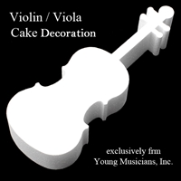 Violin Refreshment Decoration