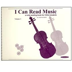 I Can Read Music, Viola Volume 1 -- Joanne Martin