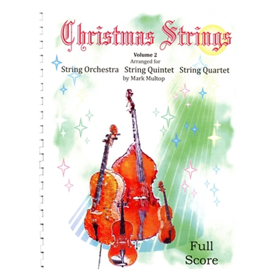 Christmas Strings Volume 2, Full Score w/CD - Mark Multop