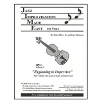 Jazz Improvisation Made Easy for Viola with Cassette - Harmon