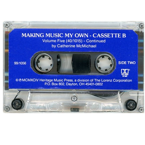 Making Music My Own, Cassette B for Vol. 4 & 5 - McMichael