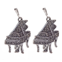 EARRING CRYSTAL GRAND PIANO SILVER