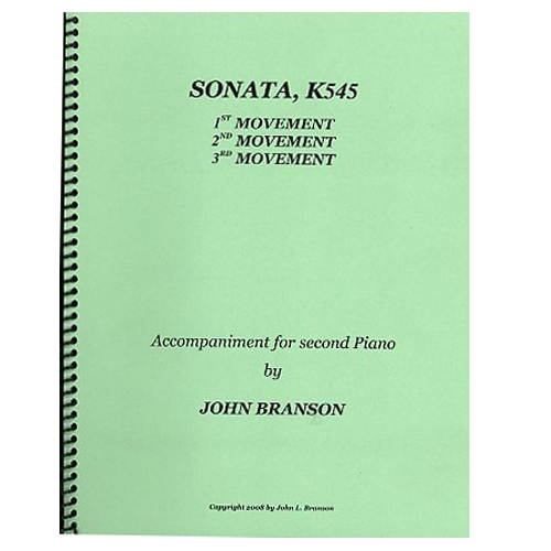Mozart Sonata, K545 2nd Piano Part