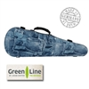 "Winter ""Jeans"" Shaped Violin Case - Green Line"