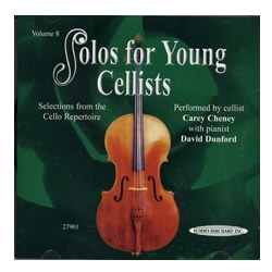 Solos for Young Cellists, Volume 8 CD - Carey Cheney