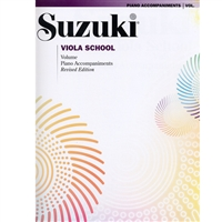 Revised- Suzuki Viola School: Volume: Piano Accompaniment