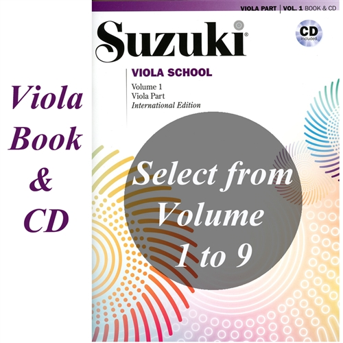 Suzuki Viola School: Volume: COMBO Viola Part and CD-Revised