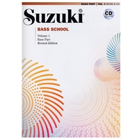 Revised- Suzuki BASS School: Bass Part & CD Volume 1