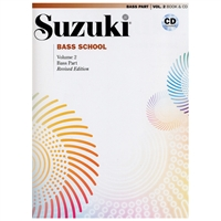 Revised- Suzuki BASS School: Bass Part & CD Volume 2