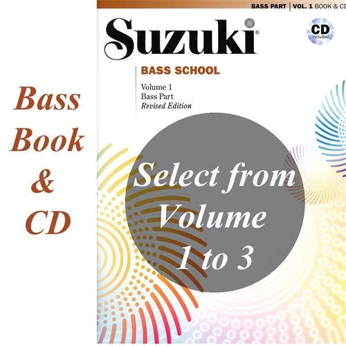 Revised- Suzuki BASS School: Bass Part & CD