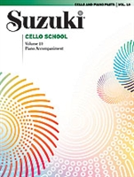 Suzuki Cello School: Volume 10: Cello Part and Piano Accompaniment
