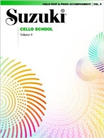 Suzuki Cello School: Volume 9: Cello Part and Piano Accompaniment