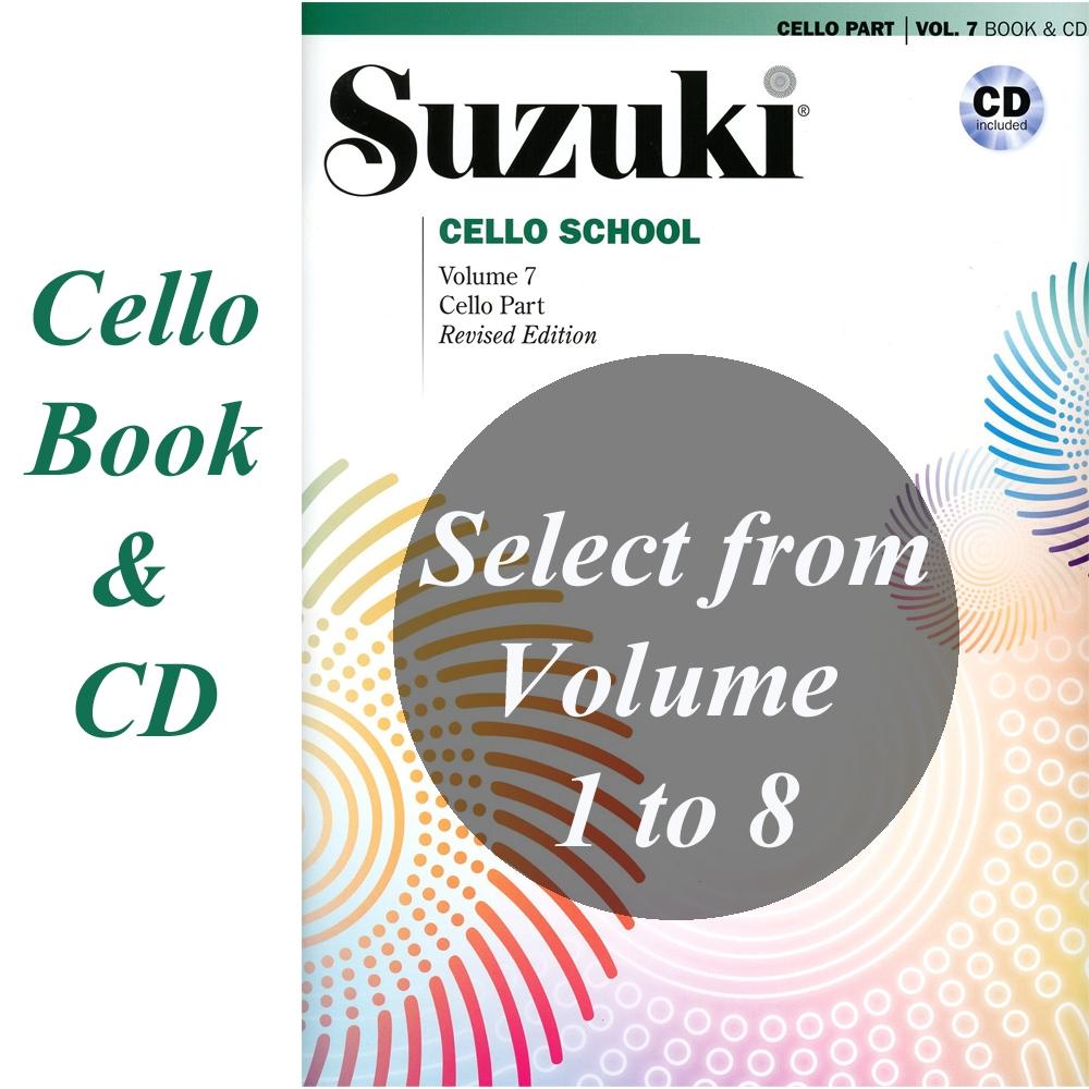 Suzuki Cello School Cello Part Cd Vols 1 8