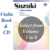 Suzuki Violin School Book One Book & CD Combo