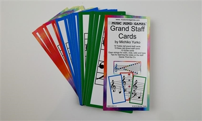Grand Staff Cards- Music Mind Games