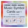 Music Symbol Cards Set 1- Music Mind Games
