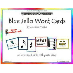 Blue Jello Word Cards- Music Mind Games
