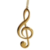 G Clef Metal Ornament (Gold or Silver plated)