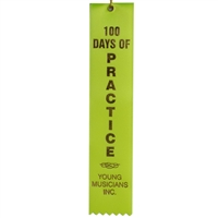 100 Days of Practice Ribbon- Chartreuse